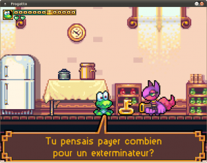 Frogatto's french translation example image