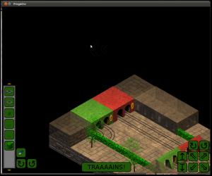First screenshot of Cube Trains.